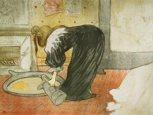Woman at the Tub, 1896 by Henri de Toulouse-Lautrec