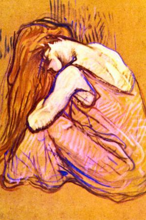 Henri de Toulouse-Lautrec Woman Combing Hair
