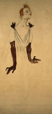 Yvette Guilbert, 1894 by Henri de Toulouse-Lautrec