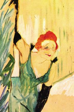 Yvette Guilbert Greets The Audience by Henri de Toulouse-Lautrec