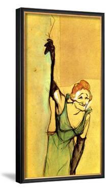 Yvette Guilbert Taking Curtain Call by Henri de Toulouse-Lautrec