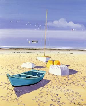 Bateaux Sur La Plage by Henri Deuil