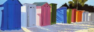 Row of Beach Shacks by Henri Deuil