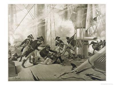 Battle of Trafalgar Nelson is Fatally Wounded