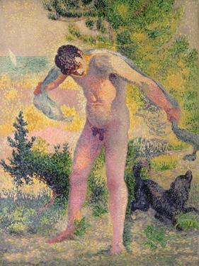 Bather Drying Himself at St. Tropez, 1893 by Henri Edmond Cross