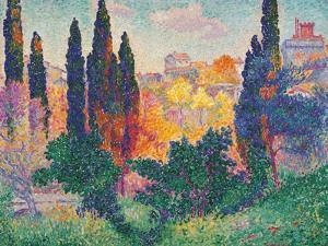 Cypress Trees at Cagnes by Henri Edmond Cross