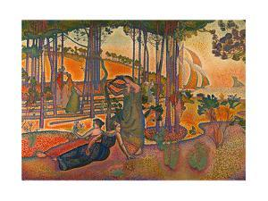 L'Air du Soir. Oil on canvas (1893) RF 1976-81. by Henri Edmond Cross