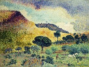 La Chaine des Maures. Entstanden Juni 1906 - April 1907 by Henri Edmond Cross