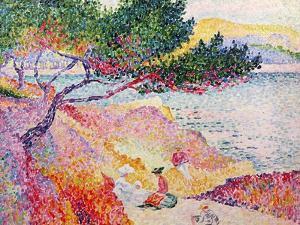 La Plage de Saint-Clair, 1906-07 by Henri Edmond Cross