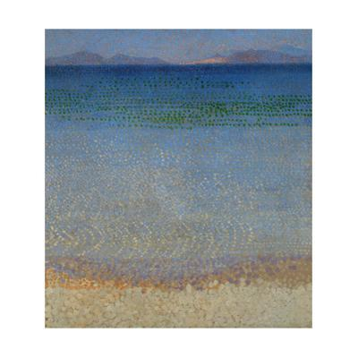 Les Iles d'Or, Iles d'Hyeres, Var, 1891-1892 Canvas, 59 x 54 cm R. F. 1977-136. by Henri Edmond Cross