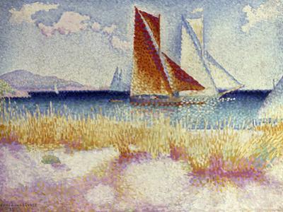 Les Regates, 1895 by Henri Edmond Cross