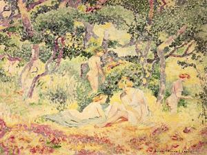Nudes in a Wood, 1905 by Henri Edmond Cross