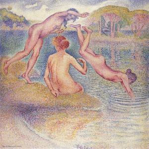 The Bathers (The Joyful Bathing); Les Baigneuses (La Joyeuse Baignade), 1899-1902 by Henri Edmond Cross