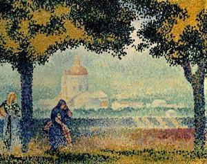 The Church of Santa Maria degli Angely near Assisi by Henri Edmond Cross