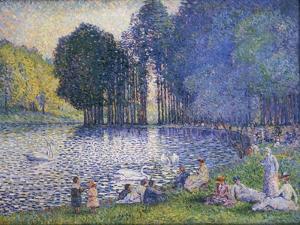 The Lake in the Bois De Boulogne, C.1899 by Henri-Edmond Cross