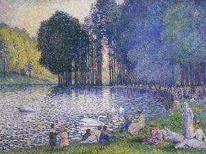 The Lake in the Bois de Boulogne, circa 1899 by Henri Edmond Cross