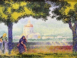 View of the Church of Santa Maria Degli Angeli Near Assisi, 1909 by Henri Edmond Cross