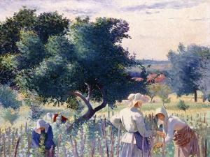 Women Binding Vines, 1890 by Henri Edmond Cross