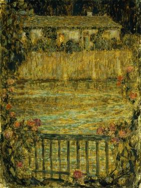 A House by the Water at Dusk; La Maison Au Bord De L'Eau Au Crepuscule, 1909 by Henri Eugene Augustin Le Sidaner