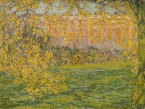 Autumn, Hampton Court; Automne, Hampton Court, 1908 by Henri Eugene Augustin Le Sidaner