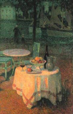 Der Kleine Gedeckte Tisch by Henri Eugene Augustin Le Sidaner