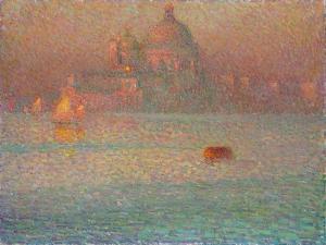 Fireworks. Winter Morning in Venice, 1907 by Henri Eugene Augustin Le Sidaner