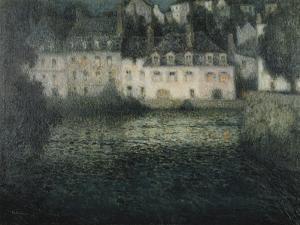 House on the River in the Moonlight; Maison Sur La Riviere Au Clair De Lune, Quimperle, 1920 by Henri Eugene Augustin Le Sidaner