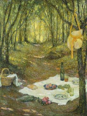 Le Gouter sous Bois, Gerberoy by Henri Eugene Augustin Le Sidaner