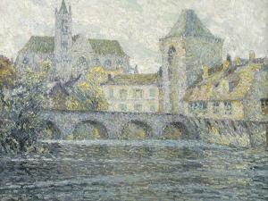 Moret Landscape, the Bridge; Paysage Moret, Le Pont, 1918 by Henri Eugene Augustin Le Sidaner