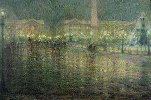 Place de la Concorde, c.1909 by Henri Eugene Augustin Le Sidaner