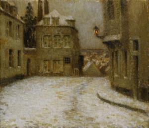 Snow, Montmartre by Henri Eugene Augustin Le Sidaner