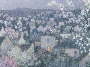 Spring Evening by Henri Eugene Augustin Le Sidaner