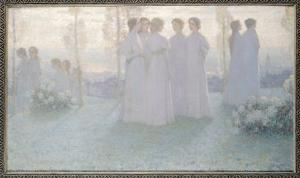 Sunday, 1898 by Henri Eugene Augustin Le Sidaner