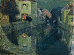 The Canal at Night by Henri Eugene Augustin Le Sidaner