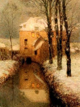The Canal in Winter, 1901 by Henri Eugene Augustin Le Sidaner