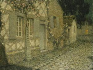 The Gardener's House in the Moonlight by Henri Eugene Augustin Le Sidaner