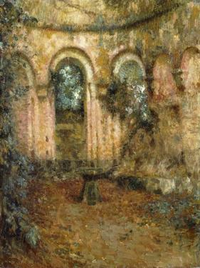 The Grounds of the Castle; Le Cour Du Chateau, 1905 by Henri Eugene Augustin Le Sidaner