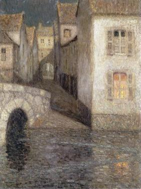 The House by the River, Chartres; Les Masons Sur La Riviere, Chartres, 1929 by Henri Eugene Augustin Le Sidaner