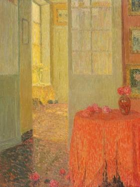 The Red Table Cloth, Versailles, C.1931 by Henri Eugene Augustin Le Sidaner
