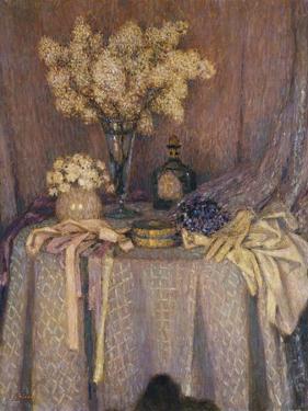 The Table, Purple Harmony; La Table, Harmonie Mauve, 1927 by Henri Eugene Augustin Le Sidaner