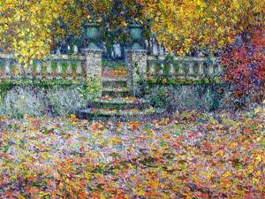The Terrace in the Autumn, Gerberoy, 1922 by Henri Eugene Augustin Le Sidaner