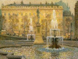 Trafalgar Square, London, 1908 by Henri Eugene Augustin Le Sidaner