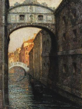 Venice - the Bridge of Sighs; Venise - Le Pont Des Soupirs, 1914 by Henri Eugene Augustin Le Sidaner