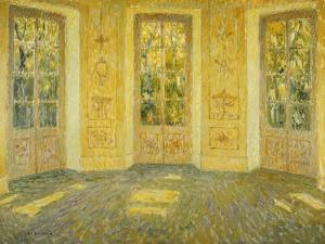 Windows on the Parc; Fenetres Sur Le Parc, 1938 by Henri Eugene Augustin Le Sidaner