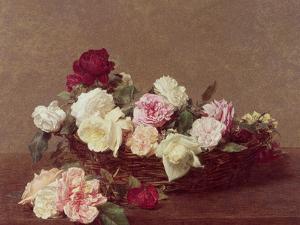 A Basket of Roses, 1890 by Henri Fantin-Latour