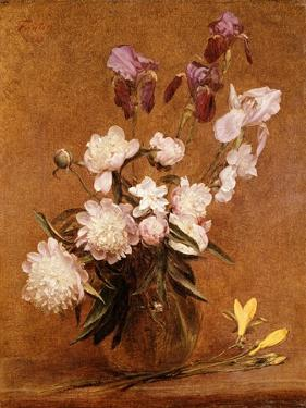 Bouquet of Peonies and Irises, 1883 by Henri Fantin-Latour