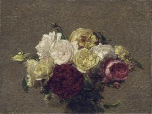 Bouquet of Roses, 1879 by Henri Fantin-Latour