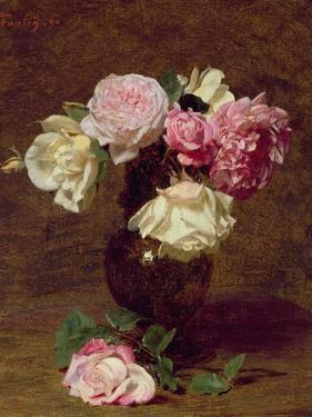 Pink and White Roses by Henri Fantin-Latour