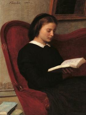 Reader (Marie, the Artists Sister) by Henri Fantin-Latour