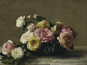 Roses in a Bowl, c.1882 by Henri Fantin-Latour